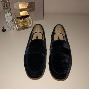 Zara Navy Blue Loafers Size 36